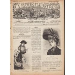 Complete magazine La Mode Illustrée 1889 N°23