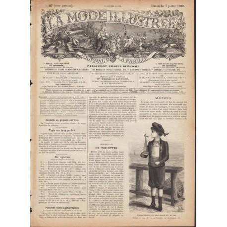 Revue complète de La Mode Illustrée 1889 N°27