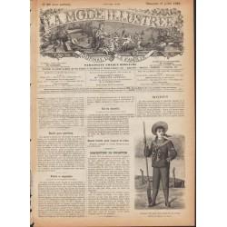 Complete magazine La Mode Illustrée 1889 N°29