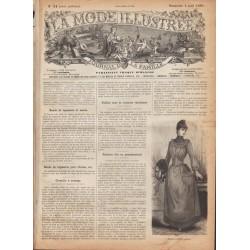 Complete magazine La Mode Illustrée 1889 N°31