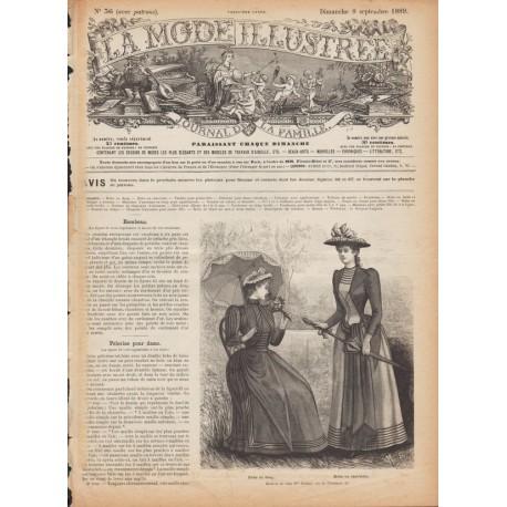 Complete magazine La Mode Illustrée 1889 N°36