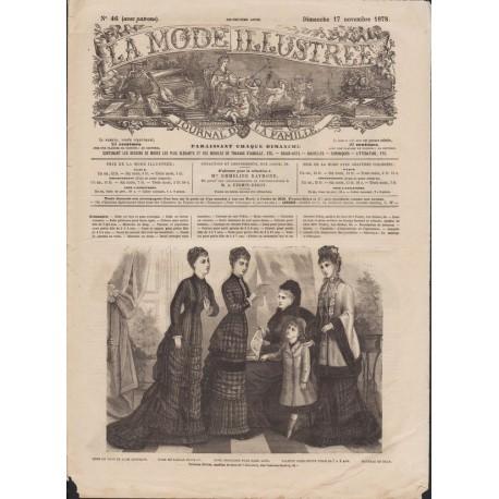 Complete magazine La Mode Illustrée 1878 N°46