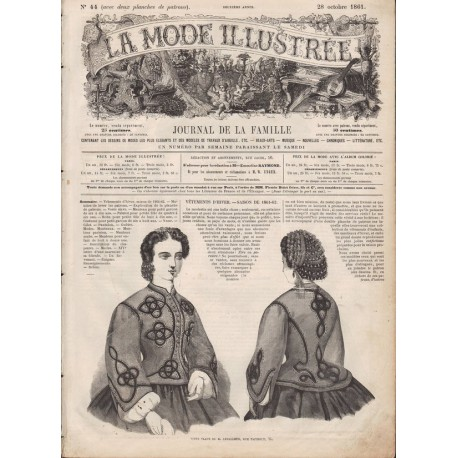 Complete magazine La Mode Illustrée 1861 N°44