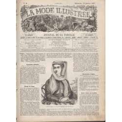 Complete magazine La Mode Illustrée 1867 N°02