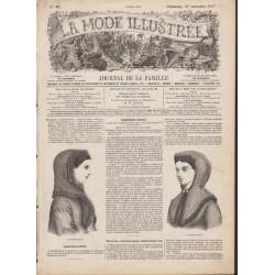 Complete magazine La Mode Illustrée 1867 N°46