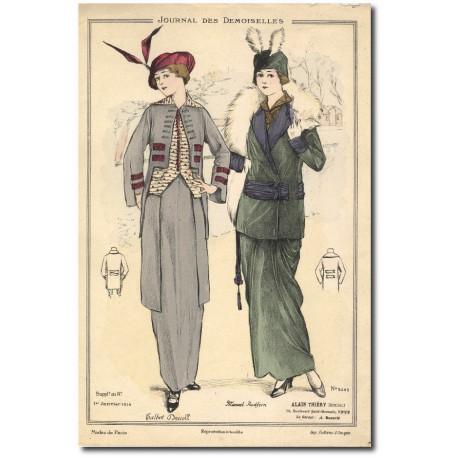 French fashion plates 1914 5245