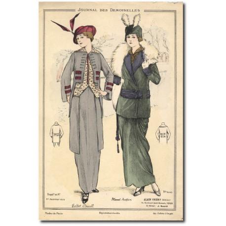 Gravure Journal des Demoiselles 1914 5245