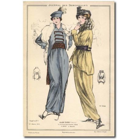 Gravure Journal des Demoiselles 1914 5248