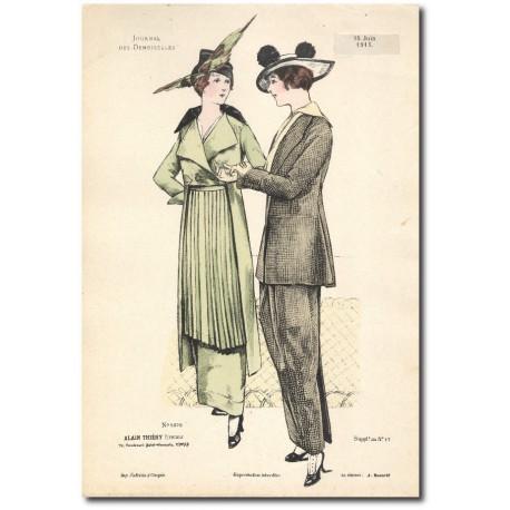 Gravure Journal des Demoiselles 1915 5278