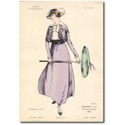 Gravure Journal des Demoiselles 1915 5317