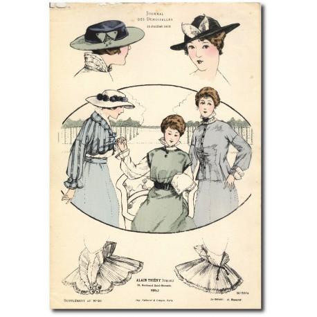 Gravure Journal des Demoiselles 1915 5324