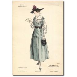 Gravure Journal des Demoiselles 1915 5327