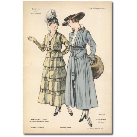 Gravure Journal des Demoiselles 1915 5331