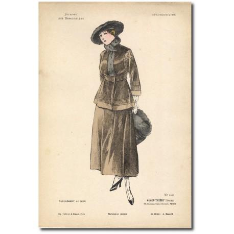 Gravure Journal des Demoiselles 1915 5337