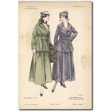 Gravure Journal des Demoiselles 1915 5337b