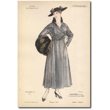 Gravure Journal des Demoiselles 1915 5341