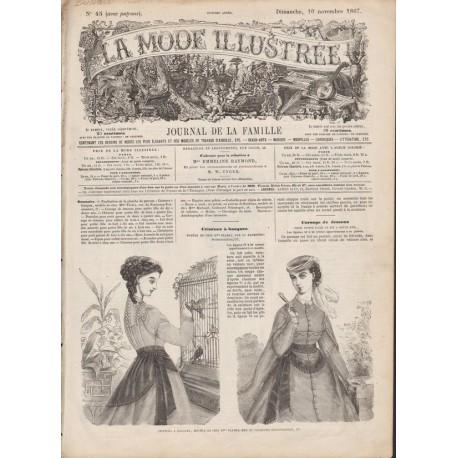 Complete magazine La Mode Illustrée 1867 N°45