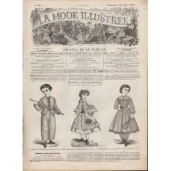 Complete magazine La Mode Illustrée 1867 N°30