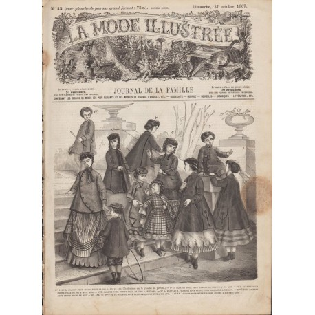 Complete magazine La Mode Illustrée 1867 N°43