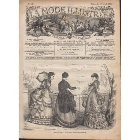 Complete magazine La Mode Illustrée 1869 N°15