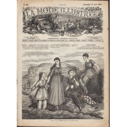 Complete magazine La Mode Illustrée 1869 N°26