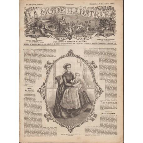 Complete magazine La Mode Illustrée 1869 N°49