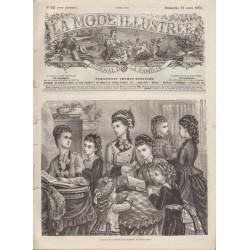 Complete magazine La Mode Illustrée 1875 N°12