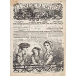 Complete magazine La Mode Illustrée 1869 N°25