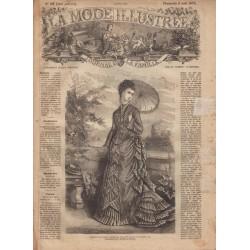 Complete magazine La Mode Illustrée 1875 N°32