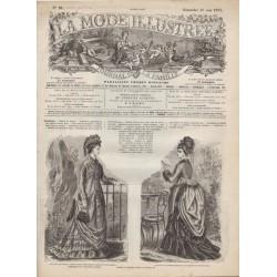 Complete magazine La Mode Illustrée 1875 N°21