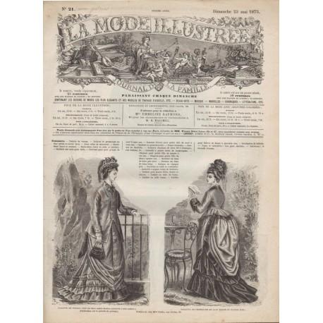 Revue complète de La Mode Illustrée 1875 N°21