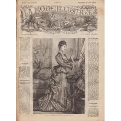 Complete magazine La Mode Illustrée 1875 N°34