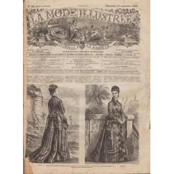 Complete magazine La Mode Illustrée 1875 N°38