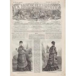 Complete magazine La Mode Illustrée 1875 N°47