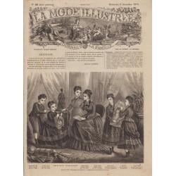 Complete magazine La Mode Illustrée 1875 N°49
