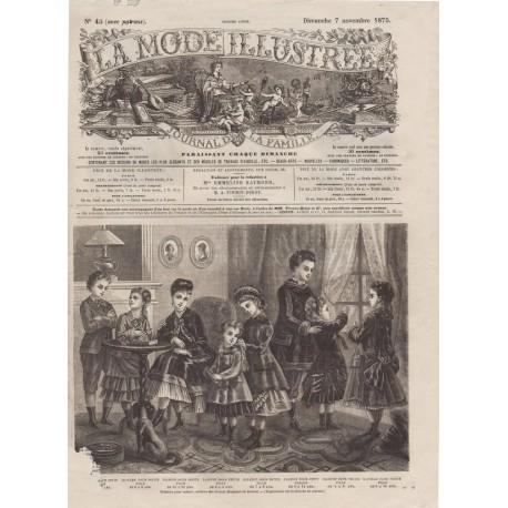 Revue complète de La Mode Illustrée 1875 N°45