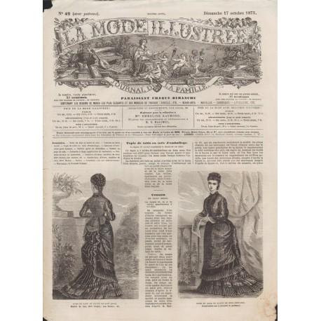 Complete magazine La Mode Illustrée 1875 N°42