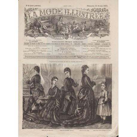 Complete magazine La Mode Illustrée 1875 N°08