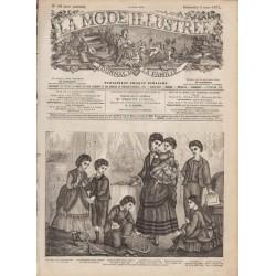 Complete magazine La Mode Illustrée 1871 N°10
