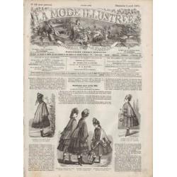 Complete magazine La Mode Illustrée 1871 N°14