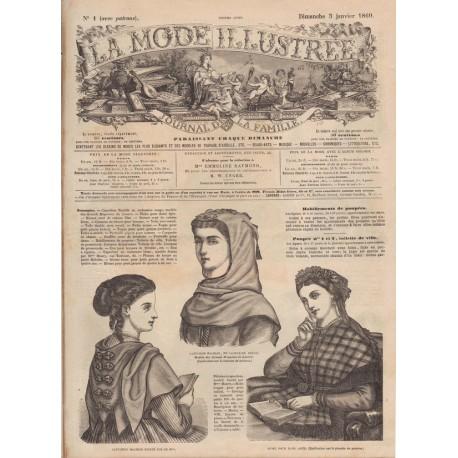 Complete magazine La Mode Illustrée 1869 N°01