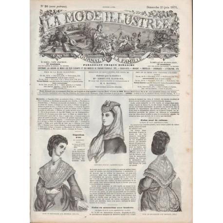 Complete magazine La Mode Illustrée 1871 N°26