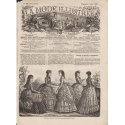 Complete magazine La Mode Illustrée 1869 N°32