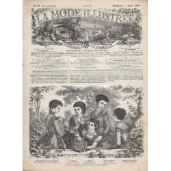 Complete magazine La Mode Illustrée 1869 N°27