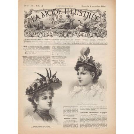 Revue complète de La Mode Illustrée 1894 N°35