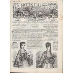 Complete magazine La Mode Illustrée 1871 N°28