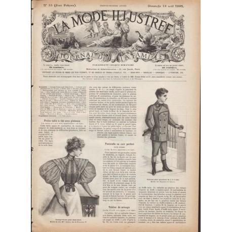 Complete magazine La Mode Illustrée 1895 N°33