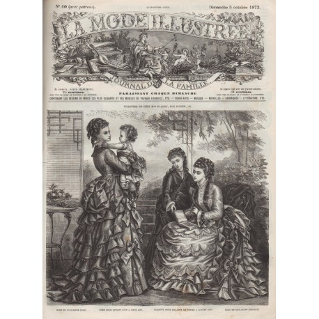 Complete magazine La Mode Illustrée 1873 N°40