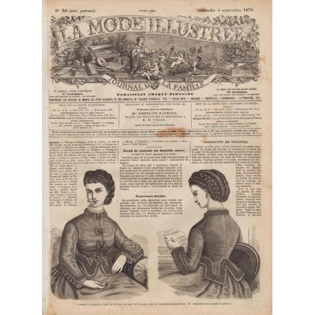 Complete magazine La Mode Illustrée 1870 N°36