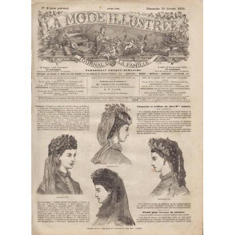Complete magazine La Mode Illustrée 1870 N°08